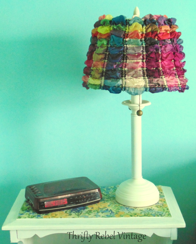 easy scarf lampshade makeover
