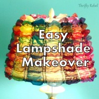 Easy Lampshade Makeover