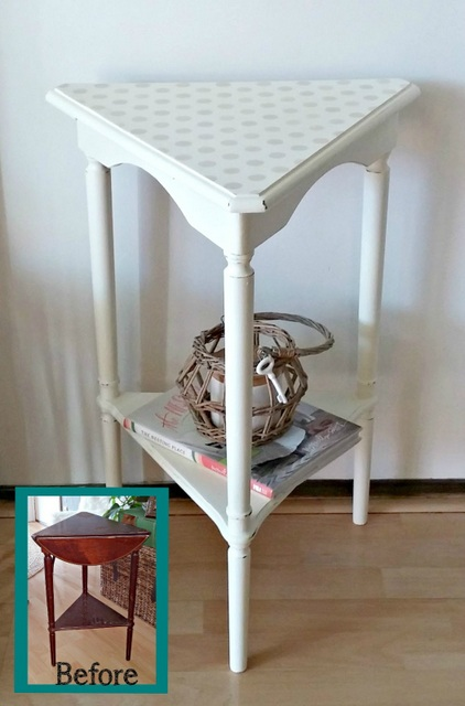 triangle table makeover