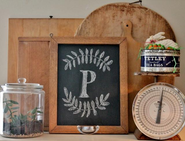 Oak framed chalkboard