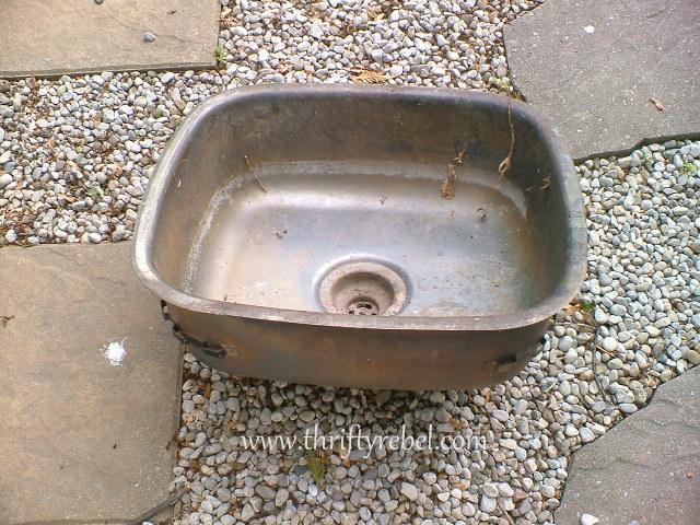 vintage metal sink