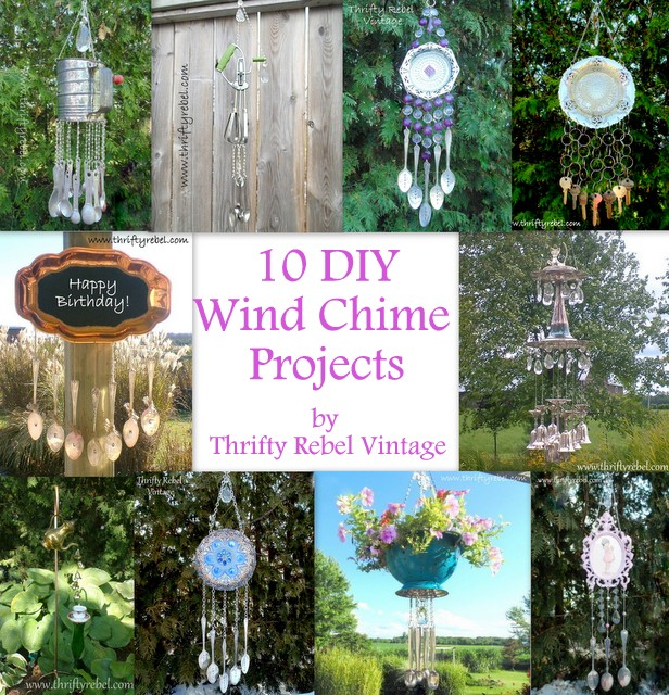 10 DIY Wind Chime Projects by Thrifty Rebel Vintage