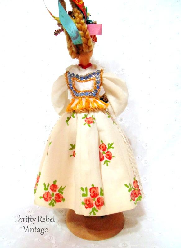cepelia polish folk art doll figurine