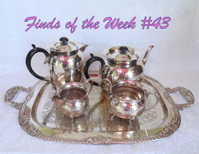 civic silver plate teapot set