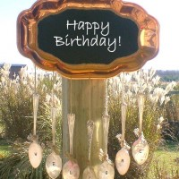 Copper Platter Chalkboard Sign Door Chimes