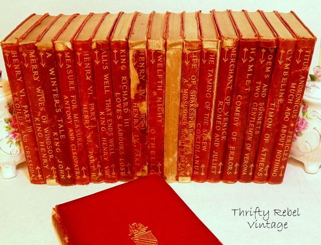 antique Shakespeare book set