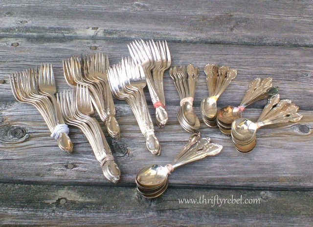 vintage silverware forks and spoons