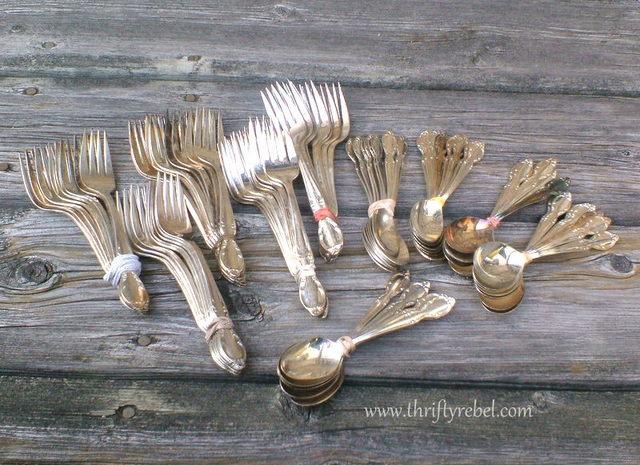 vintage silverware forks and spoons