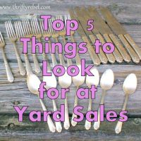 Top 5 Things to Look for at Yard Sales