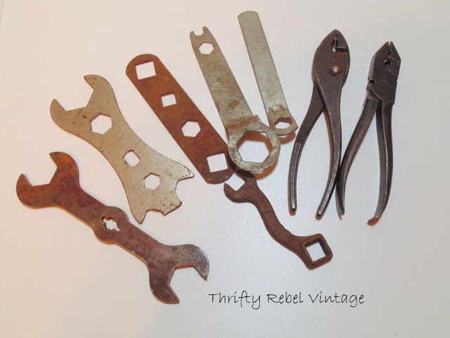 vintage wrenches and pliers