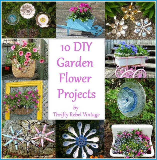 10 DIY Flower Garden Projects / thriftyrebelvintage.com