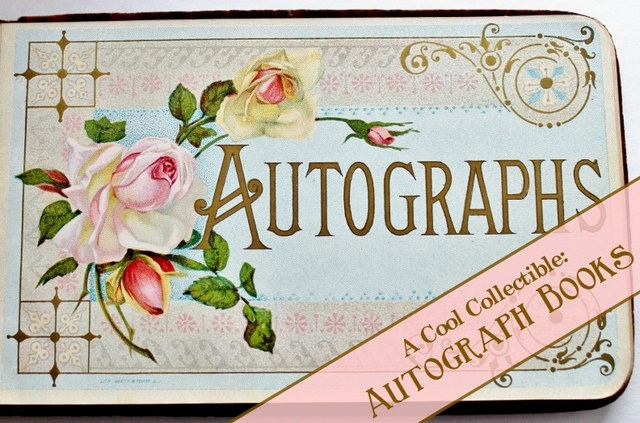Antique Autograph cover page with graphic