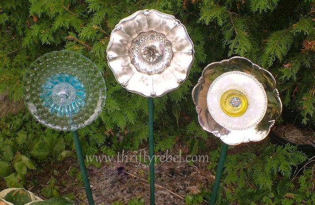 DIY Garden Plate Flowers