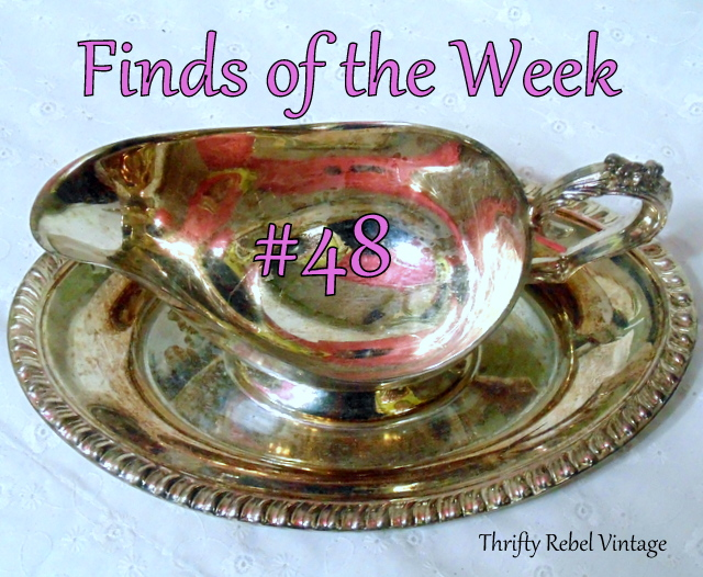 Vintage Silver Gravy Boat / Finds of the Week #48 / thriftyrebelvintage.com