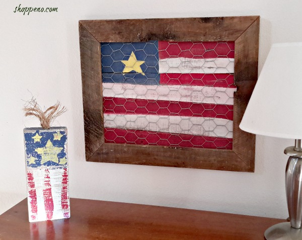 Pallet-Flag-with-Thrift-Store-Frame at Shoppe No. 5 Tuula's #32