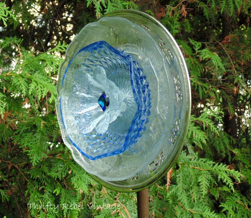 Repurposed Garden Plate Flower