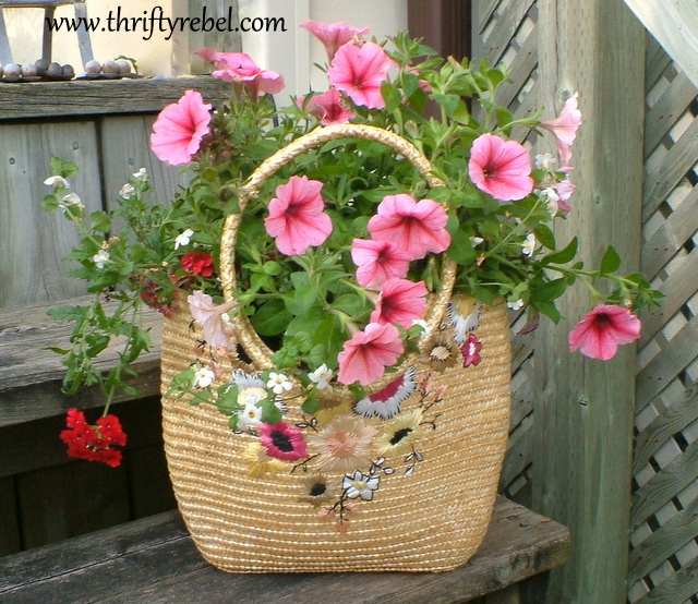 Repurposing Purses into Planters
