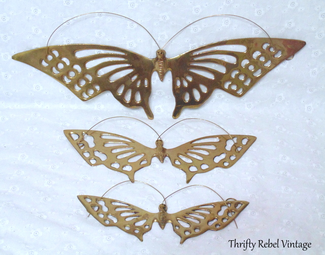 Brass Butterfly Set / Finds of the Week #48 / thriftyrebelvintage.com