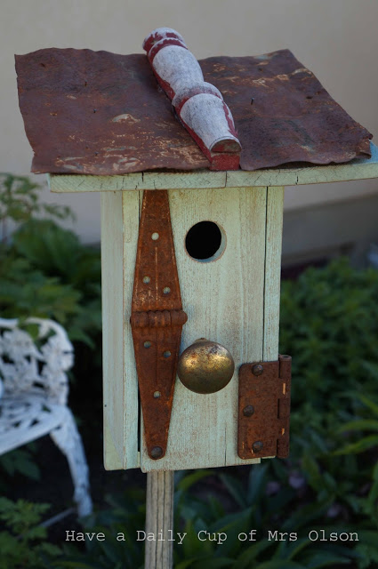 Junk Birdhouse by Have A Daily Cup Feature Vintage Charm #31