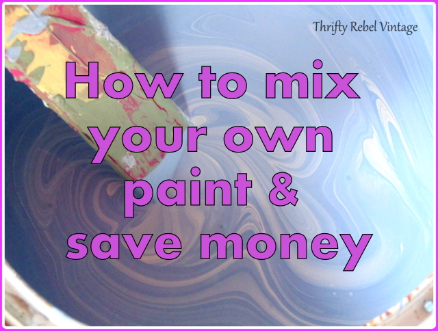 mixing your own paint and saving money