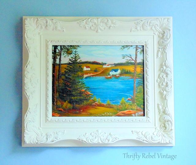 vintage plastic picture frame makeover