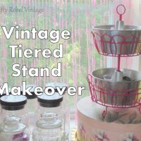 Vintage Tiered Stand Makeover