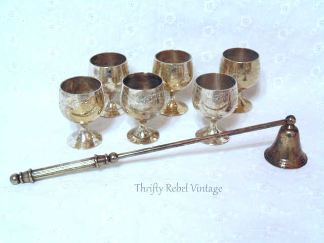 vintage goblets and candle snuffer / thriftyrebelvintage.com / Finds of the Week #47