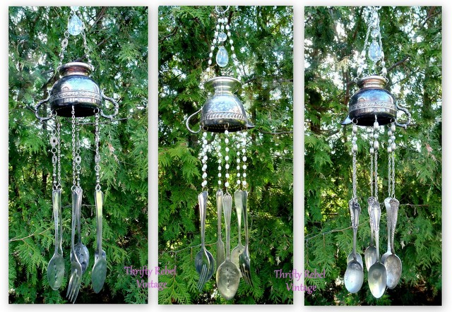 Silverware Wind Chimes by thriftyrebelvintage.com