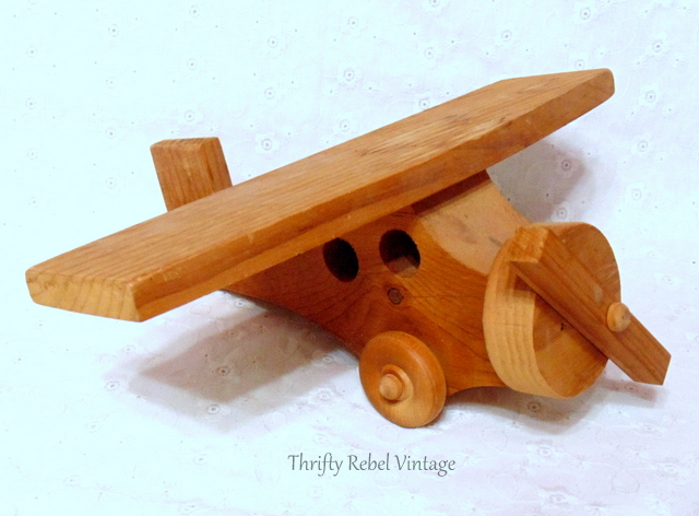 hand made wooden airplane