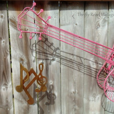 Music Note Guitar Wind Chimes