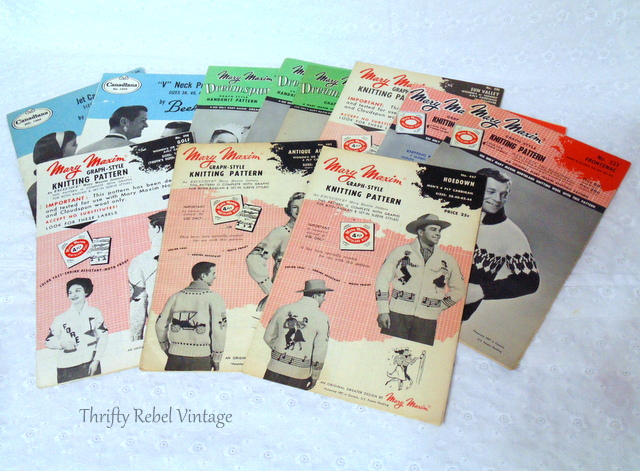 vintage graph knitting patterns