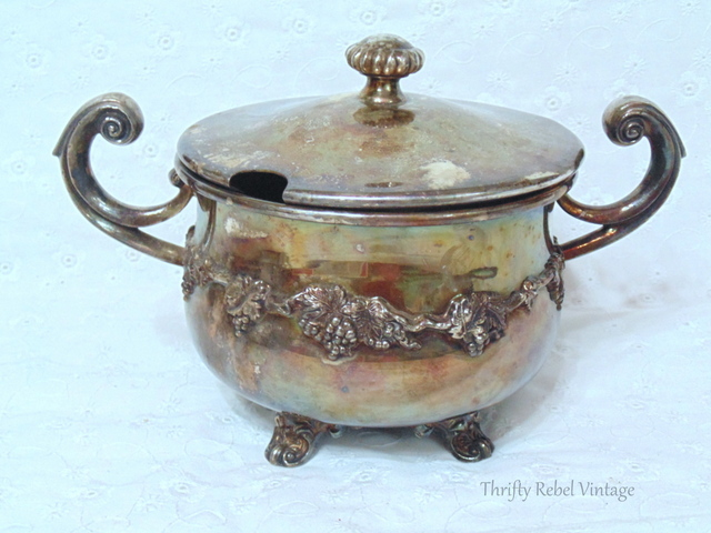 Wm Rogers Silver Sugar Bowl and Lid