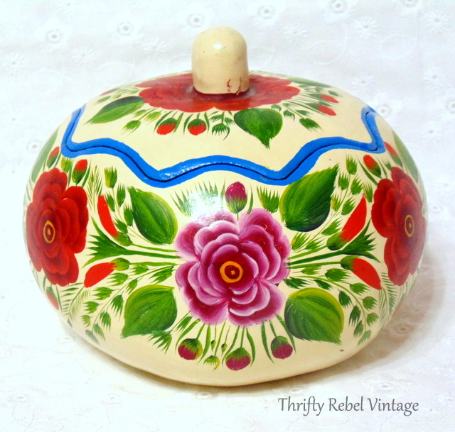 floral hand painted gourd