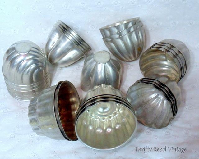 vintage metal tart tins