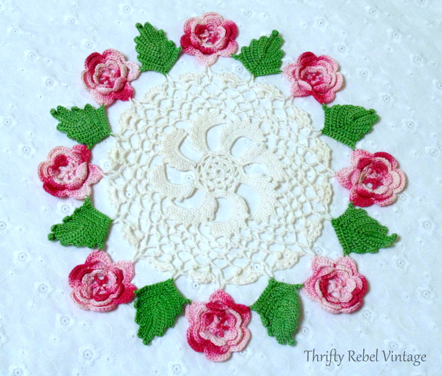 handmade rose doily
