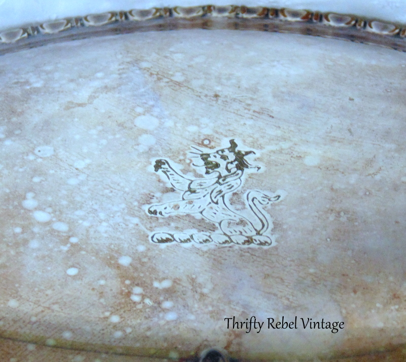 vintage plate silver silent butler crumb catcher