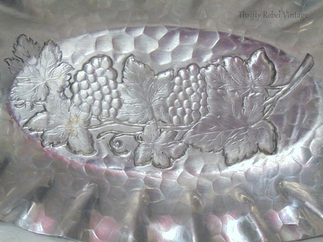vintage aluminum bread tray