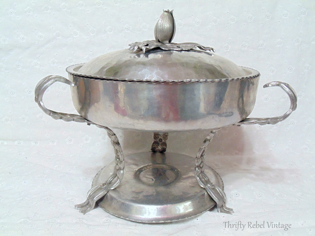 vintage aluminum chafing dish