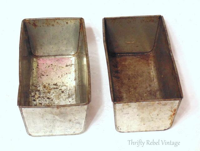 pair of vintage loaf pans