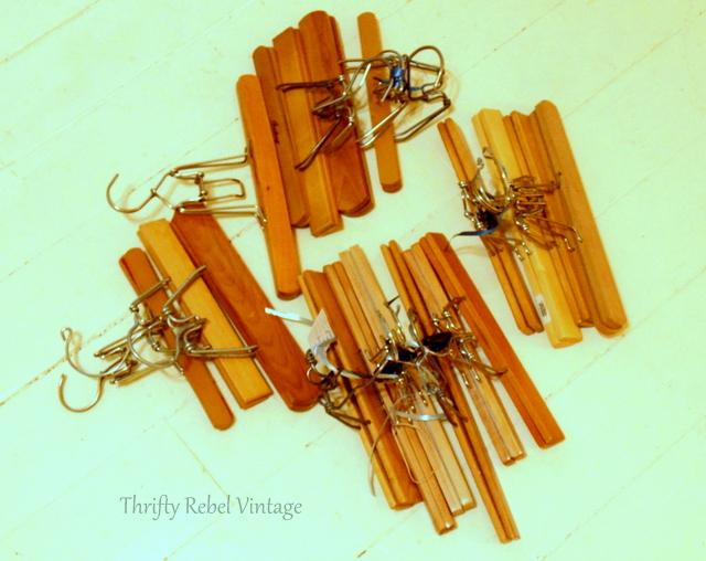 wooden pants hangers