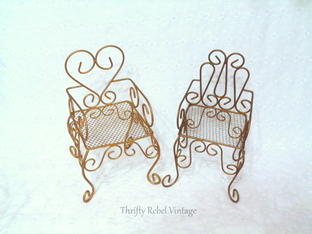 doll brass chairs