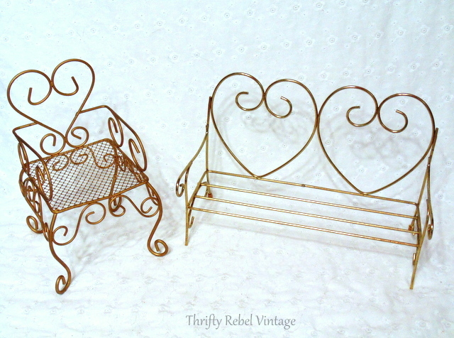 doll brass sofa and chair