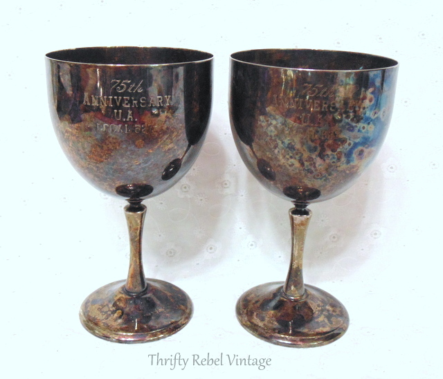 75th anniversary silver goblets