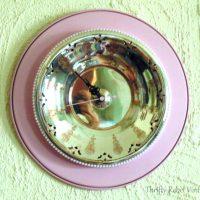 Repurposed Vintage Silver Tray Clock