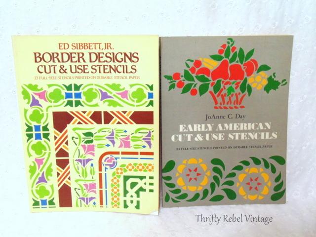 vintage stencil books
