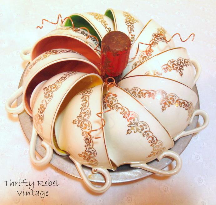 repurposed teacup pumpkin
