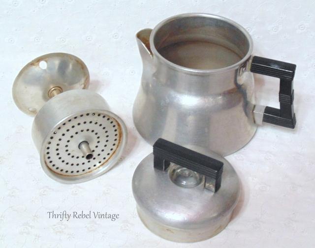 vintage wear ever aluminum coffee pot