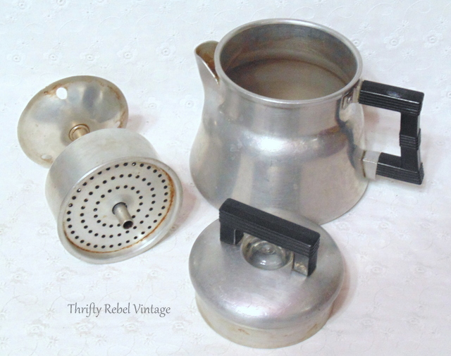 vintage wear ever aluminum coffee pot