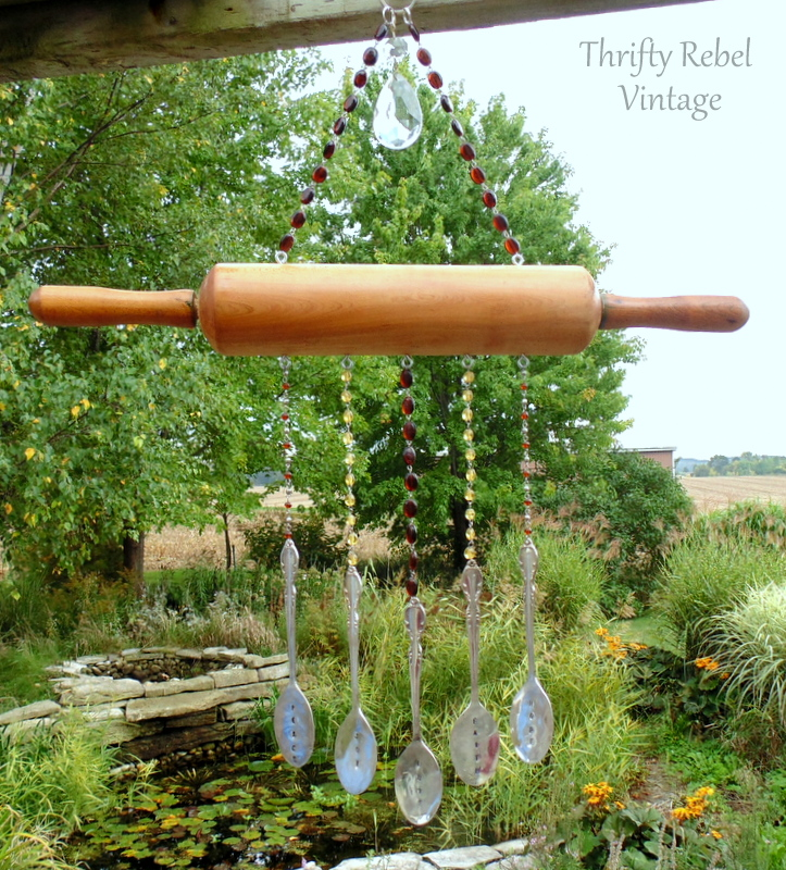 rolling pin wind chime