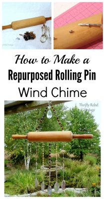 How to make a repurposed rolling pin wind chime